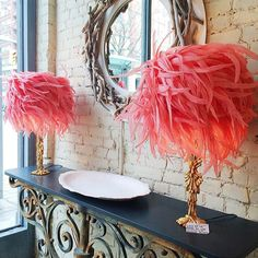 feather lamps....love this