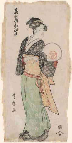 Takashima Ohisa, from an untitled series of double-sided prints    Artist Kitagawa Utamaro I,