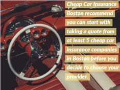 Welcome to Cheap Car Insurance Boston. We for past 5 years have been providing the cheapest possible car insurance quotes for car drivers in Boston MA and areas around.
