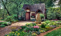 Stunning Fairytale Cottages Design For Inspiring Home Design: Fairytale Cottages As Fairy Tale Houses In The Woods With Flowers Garden