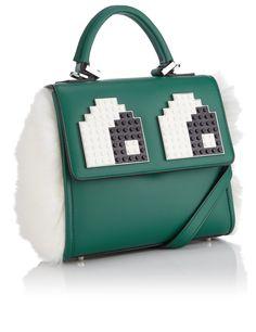 Green Leather Mini Alex Bag | Les Petits Joueurs | Avenue32