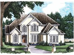 New American House Plan with 2686 Square Feet and 4 Bedrooms from Dream Home Source | House Plan Code DHSW05834