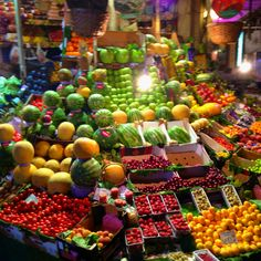 Beautiful veg and fruits market in Istanbul