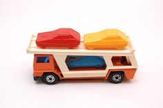 Matchbox Superfast #11 Car Transporter Orange 1976, Lesney Products, made in England, Die-Cast Toy Car Collection by RememberWhenToys on Etsy