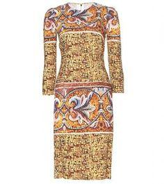 Dolce & Gabbana PRINTED CREPE DRESS on shopstyle.com