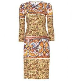 Dolce & Gabbana PRINTED CREPE DRESS on shopstyle.com