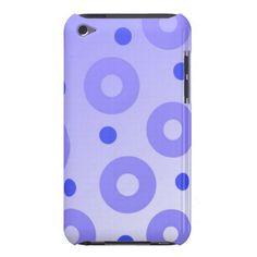 Classy Blue Circles and Dots iPod Case-Mate Case