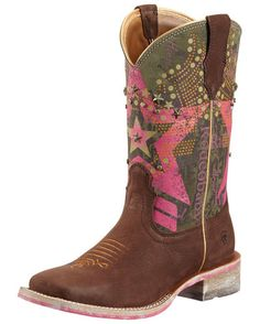 Womens Rodeobaby Liberty Boot - Sueded Chocolate/Pink........ SO MY NEXT BUY!!!!!!!!!!!!!!!!! LOVE!!!!!!!!!!