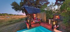HOTEL DEL DÍA - Khwai River Lodge, Moremi, Botswana http://j.mp/18EVF73 #miHdD Journeys in Botswana Orient-Express