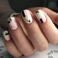Trendy Square Nail Art Ideas For Short Acrylic These trendy Nail Designs ideas would gain you amazing compliments. Check out our gallery for more ideas these are trendy this year. Cute Nails, Pretty Nails, Hair And Nails, My Nails, Pink Nails, Modern Nails, New Nail Art, Nagel Gel, Square Nails