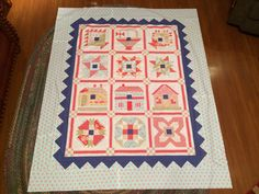 Fat Quarter Shop designer block of the month 2013.  Not quilted yet but it's done.