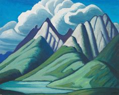 From Oeno Gallery, Lawren Stewart Harris, Mountain Sketch VII Oil on Panel, 11 × 14 in Group Of Seven Artists, Group Of Seven Paintings, Tom Thomson, Emily Carr, Canadian Painters, Canadian Artists, Landscape Art, Landscape Paintings, Mountain Sketch