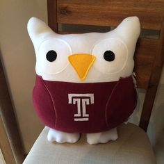 This is a Temple University Owl! He has a lot of School Spirit and he is inspired by the Temple Owls! He would be a very unique gift for that