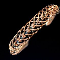 Copper bracelet with a stainless steel core. Handmade jewelry: