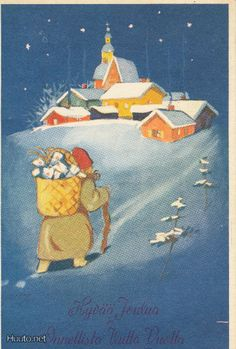 Martta Wendelin Theodore Kittelsen, Holiday Cards, Christmas Cards, 23 November, Christian Art, My Memory, Visual Arts, Christmas Inspiration, Gnomes