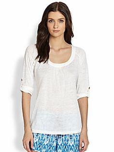 Joie - Merlot Linen Shirt
