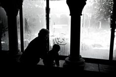 ITAP of a grandma & her grandkid at The Cloisters a museum in NYC that overlooks the Hudson River. Its governed by the Metropolitan Museum of Art and the design layout and ambiance of the building is intended to evoke a sense of the medieval European monastic life.