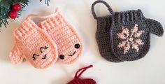 Mittens Ornament Free Crochet Pattern • Spin a Yarn Crochet