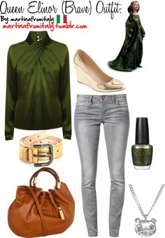 """""""Queen Elinor (Brave) Outfit:"""" by martinafromitaly ❤ liked on Polyvore"""