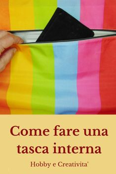 Fare una tasca interna per una borsa How to make an inside pocket for a bag and more of sewing sewing Kylie Makeup Bag, Big Makeup Bags, Sewing Hacks, Sewing Tutorials, Sewing Projects, Tutorial Photoshop, Dior Makeup, Shopper Bag, Sewing Patterns Free