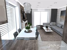 Funkčná elegancia - Dizajn kuchyne s obývačkou - Kristína Bedečová Living Room Kitchen, Luster, Ideas, Design, Elegant, Kitchen Living, Thoughts