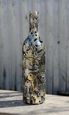bottle keys decor