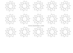 SUNFLOWER TEMPLATE FOR CAKE ROLL
