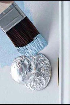 Comment Peindre Une Porte Sans Faire De Traces Sur La Poignée DIY - Peindre une porte sans trace