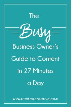Ready to speed up your content creation process and start cranking out content your readers and buyers will LOVE? This guide has everything you need!