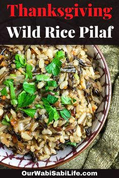 What Is Rice Pilaf, Easy Rice Pilaf, Wild Rice Pilaf, Rice Pilaf Recipe, Wild Rice Recipes, Fall Recipes, Beef Recipes, Dinner Recipes, Rice Side Dishes