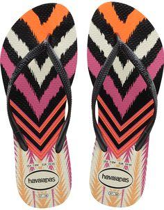 c45762906 Havaianas Slim Tribal Flip Flops - White Black