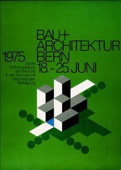 MID-CENTURY MODERN DESIGN, Architecture Exhibition Posters from Switzerland