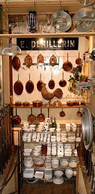 have to remember this adress: E. Dehillerin in Paris for copper cookware...when i win the lottery