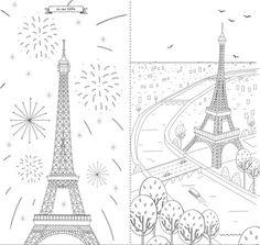Paris colorier on pinterest voyage paris and tour eiffel - La tour eiffel a colorier ...