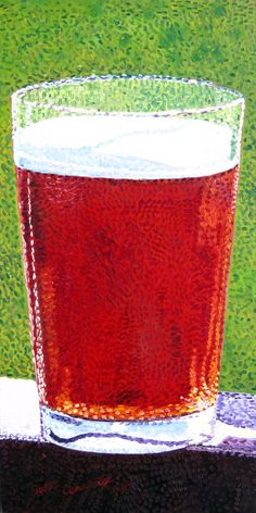 Craft Beer Oil Painting, Seurat, Pointillism, Post-Impressionism Style, Beer Pint, Craft Beer Gifts by RealArtIsBetter on Etsy https://www.etsy.com/listing/220581294/craft-beer-oil-painting-seurat