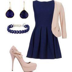 12 Mejores Imágenes De Outfits Vestido Azul Marino Vestido