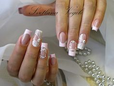 Manicure And Pedicure, Nail Art, Nails, Beautiful, Designed Nails, Work Nails, Lace Nails, Decorations, Long Nail Art