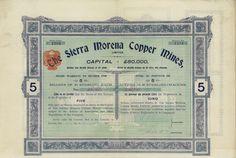The Sierra Morena Copper Mines, Limited - #scripomarket #scriposigns #scripofilia #scripophily #finanza #finance #collezionismo #collectibles #arte #art #scripoart #scripoarte #borsa #stock #azioni #bonds #obbligazioni