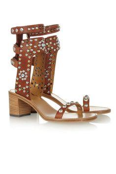 Sandálias Isabel Marant com tacão médio