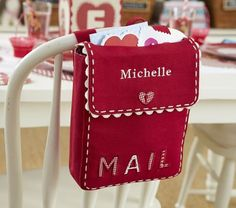I love this idea... not so much for valentines day but as a way to send cute little messages to your kids! (I also like that it has my name on it!)