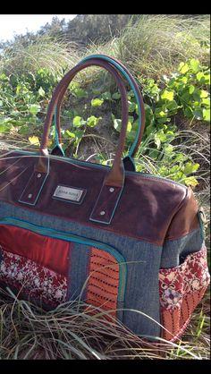 Anna Nova 'denim vogue' weekender #annanova Gym Bag, Vogue, Handbags, Denim, Weekender, Nova, Collection, Travel, Fashion