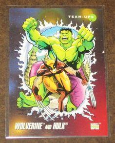Marvel Universe Series 3 (Impel 1992) Card #76 Wolverine and Hulk NM