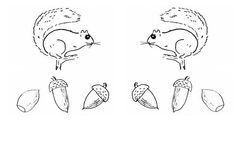 squirrels and acorns coloring page, or patterns for early math; or just for fun; http://thecommonroomblog.com/2014/10/squirrels-and-acorns-coloring-page.html