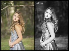 converting to black & white and creating contrast using gradient map
