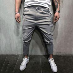 08a7ec1bdde6d Product Name Plain Slim Fit Long Pants Brand Menleads SKU PT7442D67669A4  Gender Men Color White