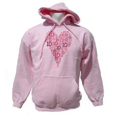 One Direction: One Direction Heart Design Pink Hoodie