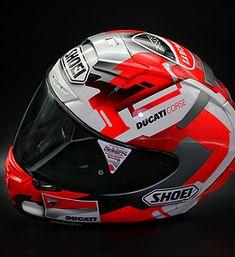 Ducati, New Helmet, Full Face Helmets, Helmet Design, Black Skulls, Racing Team, Dream Team, Hard Hats, Motorbikes