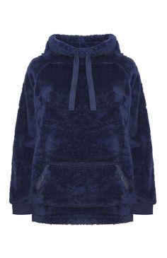 Primark - Camisola capuz forro de lã azul-marinho