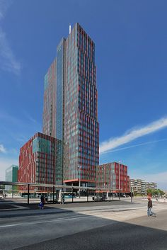 Modern Buildings, Rotterdam, Holland, Skyscraper, Multi Story Building, Towers, Tech, Design, School