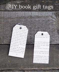 DIY, craft, Upcycling: These romantic book #gift tags take only a few minutes and will upgrade your gift immediately  (English and German)